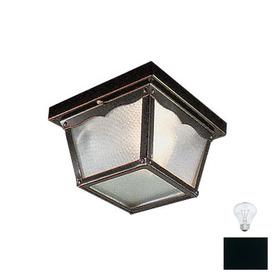 Livex Lighting 7-in W Black Outdoor Flush Mount Light