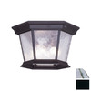 Livex Lighting Hamilton 11-in Black Outdoor Flush-Mount Light