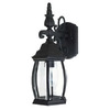 Livex Lighting Kingston 16-1/2-in Black Outdoor Wall Light