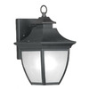 Livex Lighting Hillsdale 12-1/2-in Black Outdoor Wall Light