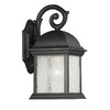 Thomas Lighting Calais 11-1/2-in Matte Black Outdoor Wall Light