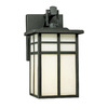 Thomas Lighting Mission 10-1/2-in Matte Black Outdoor Wall Light
