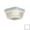 Thomas Lighting 8-in White Outdoor Flush-Mount Light