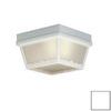 Thomas Lighting 8-in W White Outdoor Flush-Mount Light
