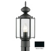 Thomas Lighting Brentwood 16-1/4-in Black Pier Mount Light