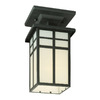 Thomas Lighting Mission 5-1/2-in Black Outdoor Flush-Mount Light