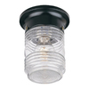 Acclaim Lighting Builder's Choice 4-1/2-in Black Outdoor Flush-Mount Light