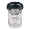 Acclaim Lighting Builder's Choice 4.5-in W Matte Black Outdoor Flush Mount Light