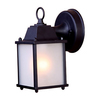 Acclaim Lighting Builders Choice 8-in H Matte Black Outdoor Wall Light