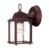 Acclaim Lighting Builders Choice 8-in Burled Walnut Outdoor Wall Light