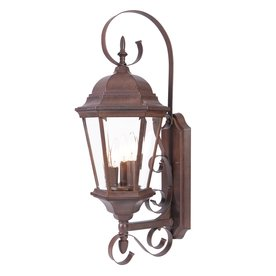Acclaim Lighting Orleans 25-in H Burled Walnut Outdoor Wall Light