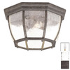 Acclaim Lighting 13-in W Black Coral Outdoor Flush Mount Light