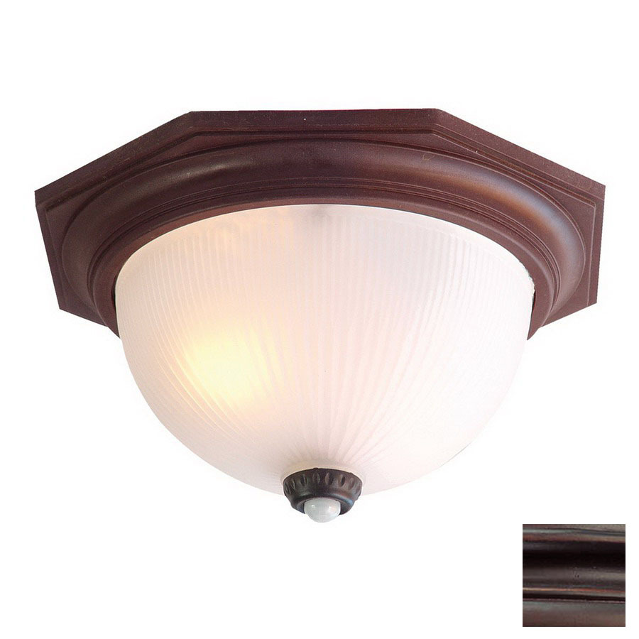 bronze motion activated outdoor flush mount light at. Black Bedroom Furniture Sets. Home Design Ideas