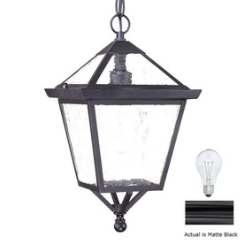 Acclaim Lighting Charleston 14-1/2-in Matte Black Outdoor Pendant Light