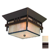 Acclaim Lighting Bali 12-1/4-in Bronze Outdoor Flush-Mount Light