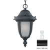 Acclaim Lighting Monterey 19-in Matte Black Solar Outdoor Pendant Light ENERGY STAR