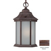 Acclaim Lighting Madison 12-in Burled Walnut Solar Outdoor Pendant Light ENERGY STAR