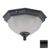 Acclaim Lighting 11-1/2-in Black Outdoor Flush-Mount Light ENERGY STAR