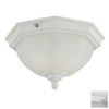 Acclaim Lighting 11-1/2-in White Outdoor Flush-Mount Light ENERGY STAR
