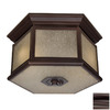Acclaim Lighting Beaufort 13-1/4-in Bronze Outdoor Flush-Mount Light ENERGY STAR