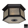 Acclaim Lighting Beaufort 13-1/4-in Black Outdoor Flush-Mount Light ENERGY STAR