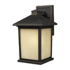 Z-Lite Holbrook 9-3/4-in Oil-Rubbed Bronze Outdoor Wall Light