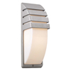 PLC Lighting Synchro 13.75-in H Architectural Silver Outdoor Wall Light