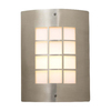 PLC Lighting Turin 11-3/4-in Satin Nickel Outdoor Wall Light