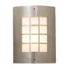 PLC Lighting Turin 11.75-in H Satin Nickel Outdoor Wall Light