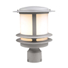 PLC Lighting Tusk 12-in H Satin Nickel Post Light