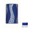 A-19 Mosaic 9-1/2-in Cobalt Blue Outdoor Wall Light
