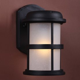 Shop Volume International 9-in H LED Black Solar Outdoor Wall Light at Lowes.com