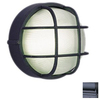 Volume International 7-1/2-in Black Outdoor Flush-Mount Light