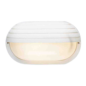 Volume International 6-in White Outdoor Wall Light