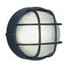 Volume International 10-in Black Outdoor Flush-Mount Light