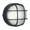 Volume International 10-in W Black Outdoor Flush Mount Light