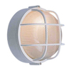Volume International 10-in White Outdoor Flush-Mount Light