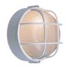 Volume International 10-in W White Outdoor Flush Mount Light