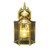 Volume International 12-3/4-in Polished Solid Brass Outdoor Wall Light