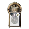 Volume International 8-in H Antique Brass Outdoor Wall Light
