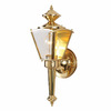 Volume International 15-in Polished Solid Brass Outdoor Wall Light