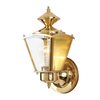 Volume International 8-in Polished Solid Brass Outdoor Wall Light