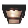 Volume International 8.25-in W Black Outdoor Flush Mount Light