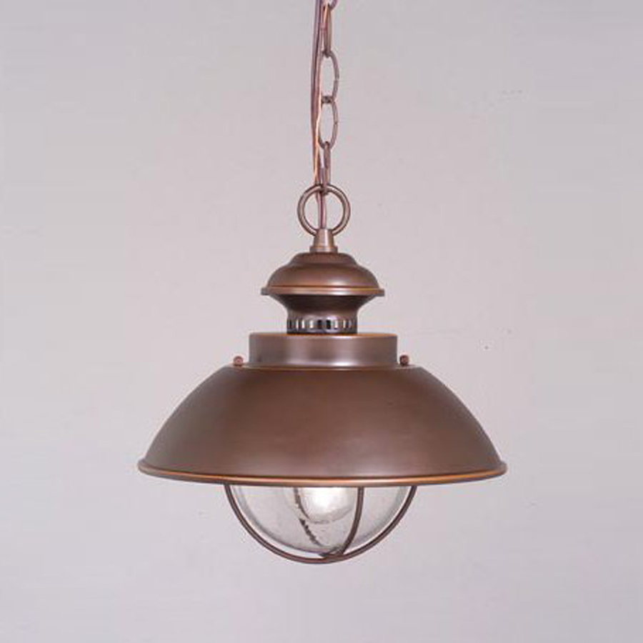 Shop Cascadia Lighting Nautical H Bronze Outdoor Pendant Light At Lo