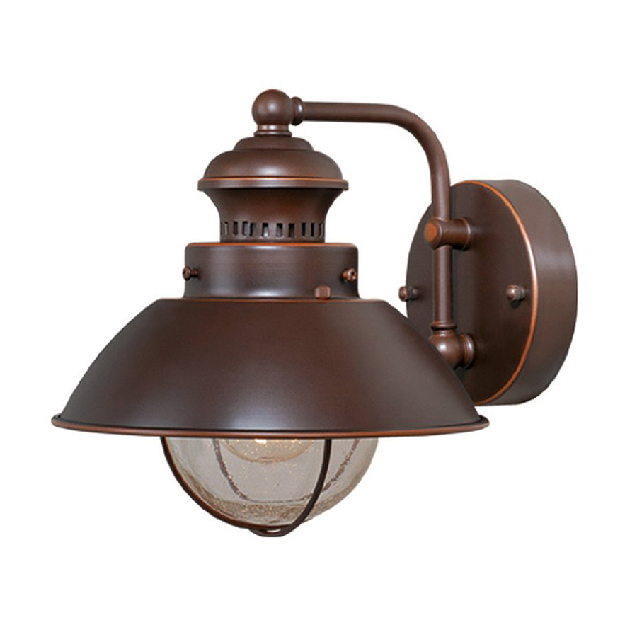 Shop cascadia lighting nautical 8 in h burnished bronze for Outdoor porch lights