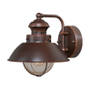Cascadia Lighting Nautical 8-in H Burnished Bronze Outdoor Wall Light