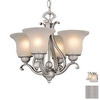 Cascadia Lighting 4-Light Brushed Nickel Ceiling Fan Light Kit with Frost Seeded Glass