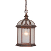 Cascadia Lighting Chateau 13.5-in Royal Bronze Hardwired Outdoor Pendant Light