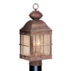 Cascadia Lighting Revere 20-1/2-in Royal Bronze Pier Mount Light