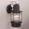 Cascadia Lighting Nautical 18-in Textured Black Outdoor Wall Light